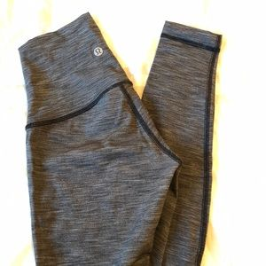 Lululemon Wunder Under Heathered Black HR leggings